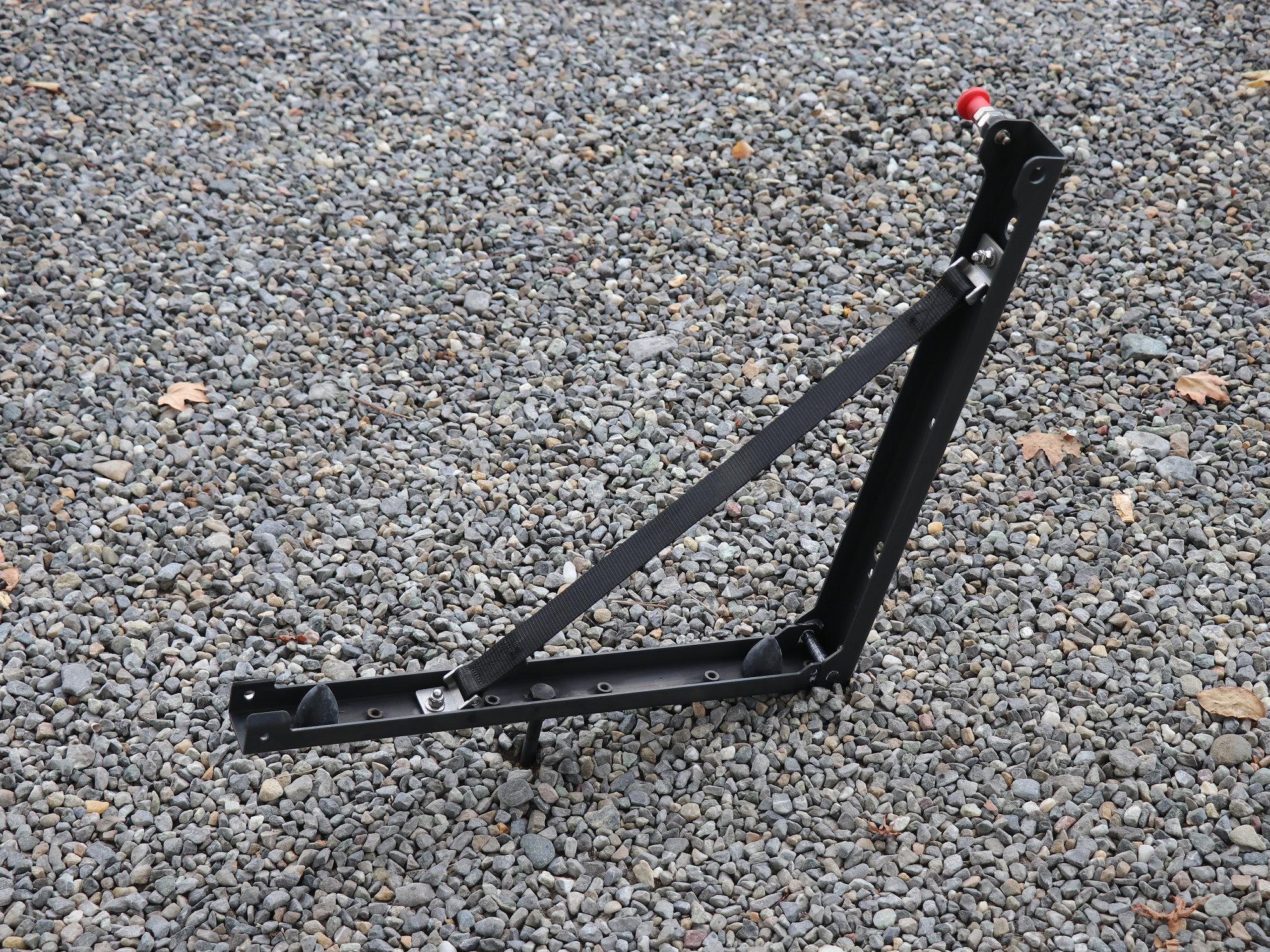 Sandblechhalterung Edelstahl schwarz Land Rover Defender
