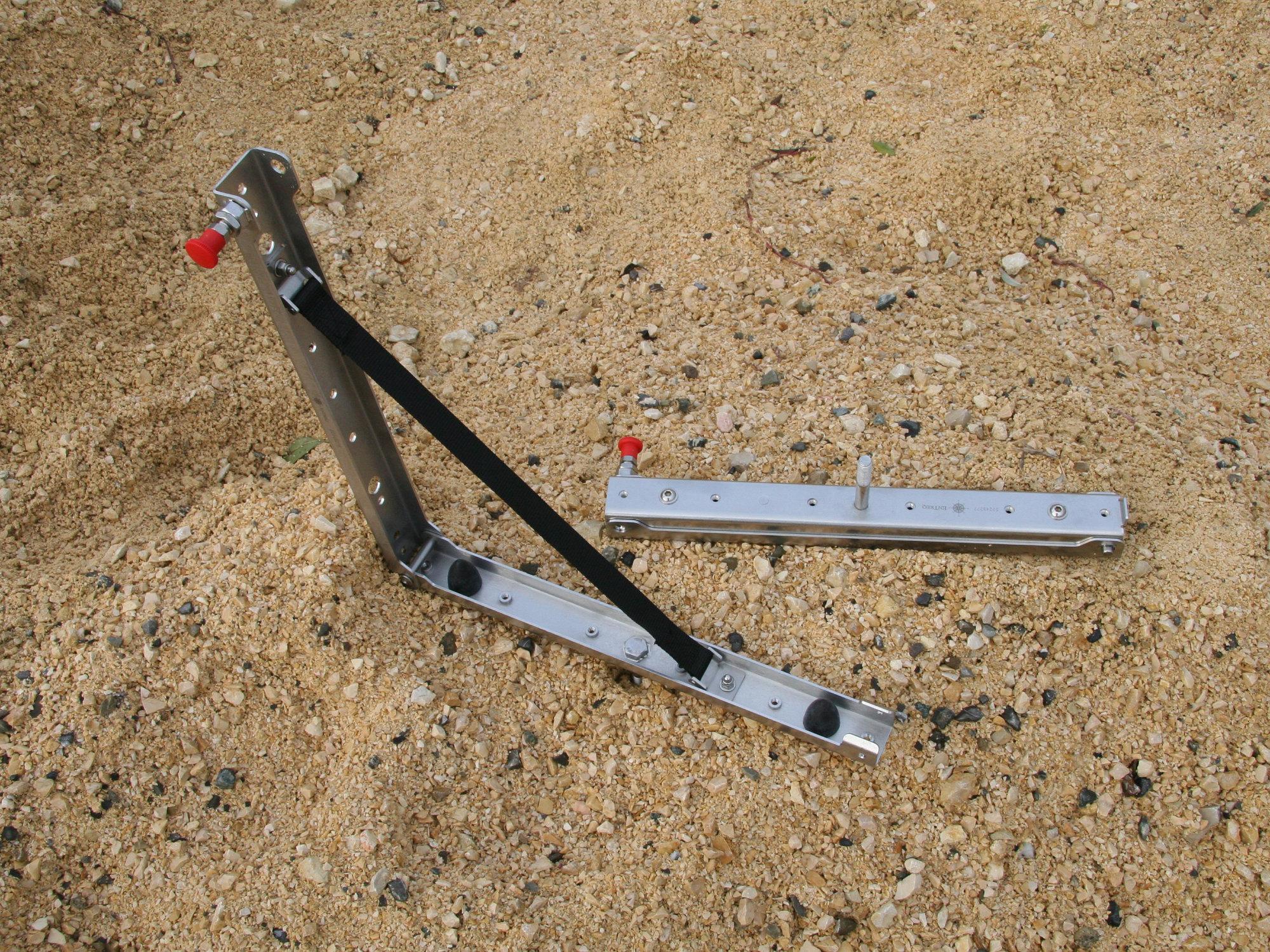 Sandblechhalterung klappbar Edelstahl.000