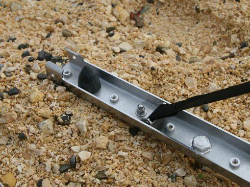 Sandblechhalterung klappbar Edelstahl