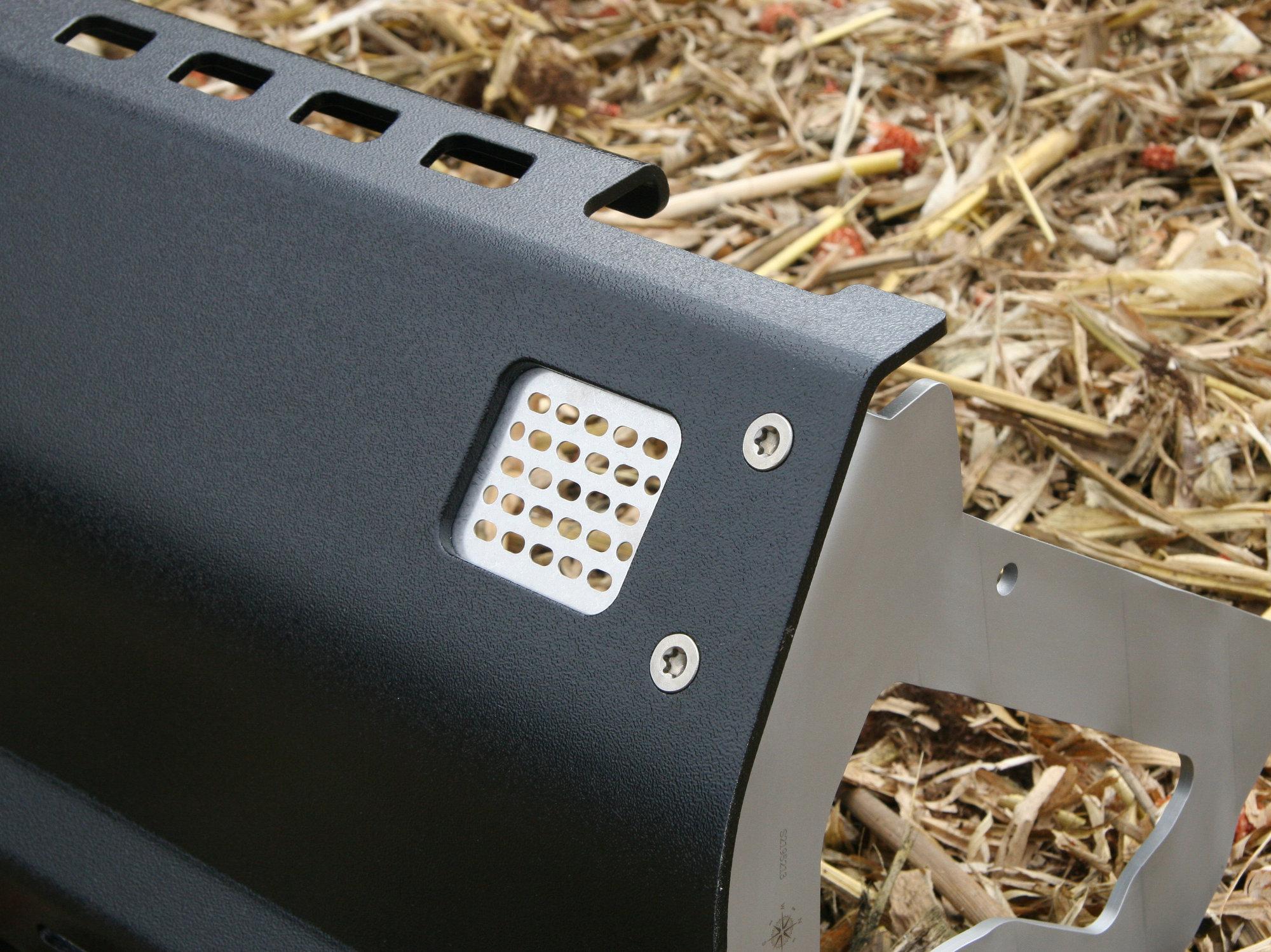 Unterfahrschutz mit Pulverbeschichtung in Grobstruktur