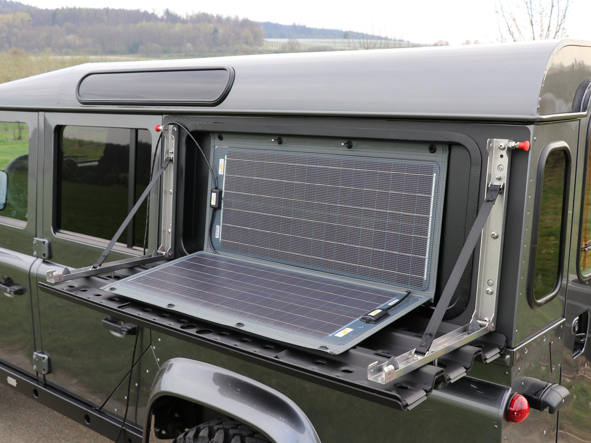 Einbauschale fuer faltbares Solarmodul