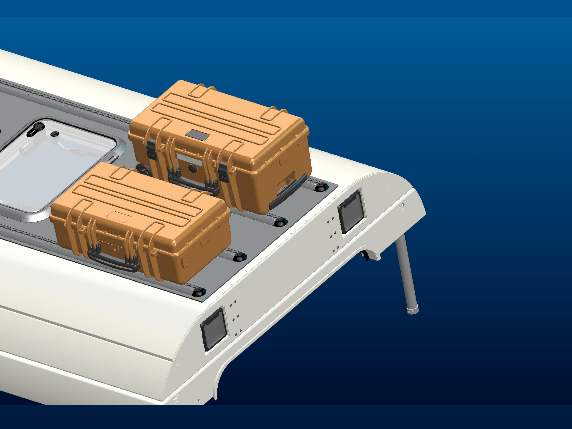 Koffer Dachträger Land Rover Defender