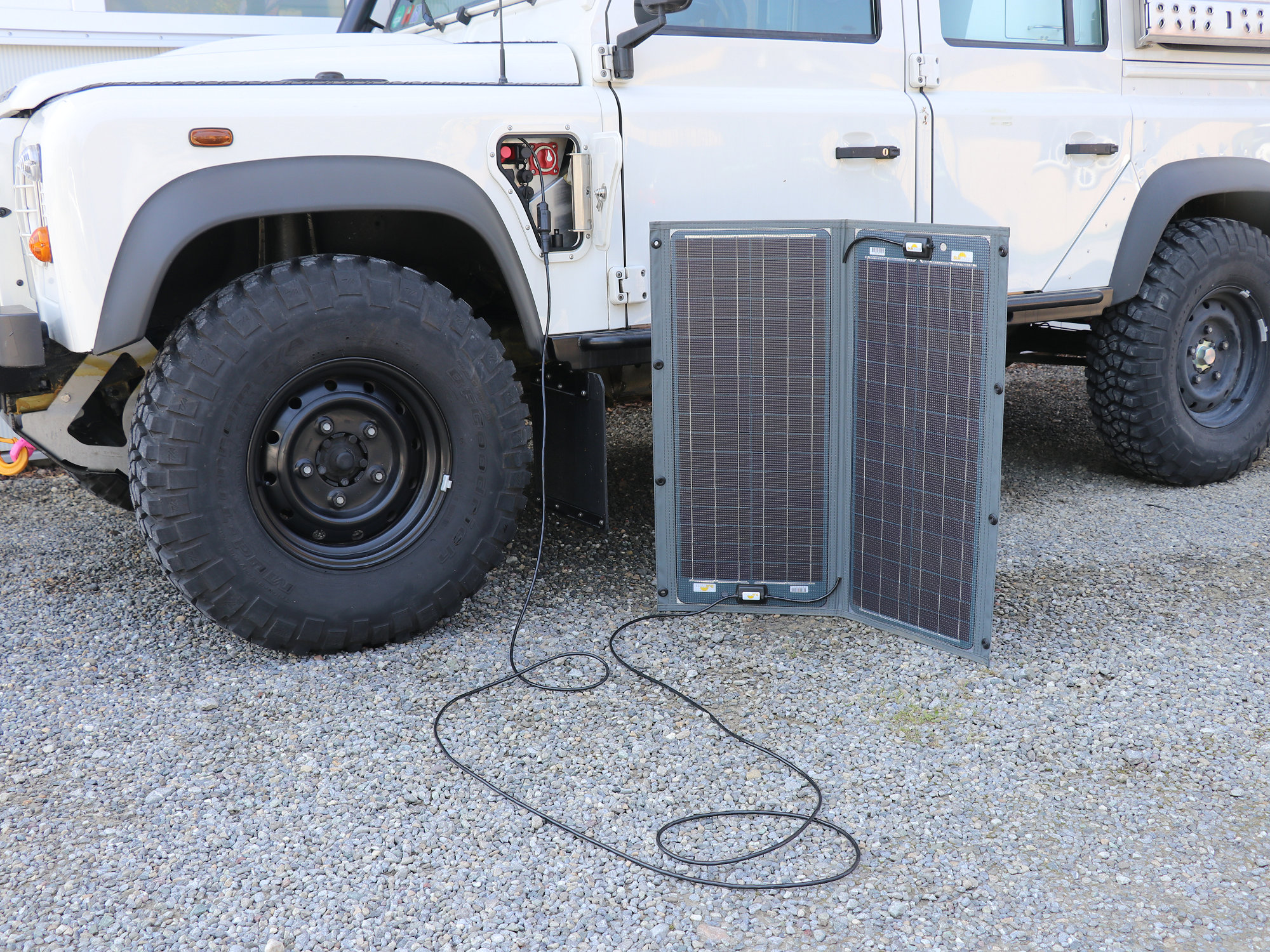 Anschluss für mobiles SUNWARE Solarmodul im PSP