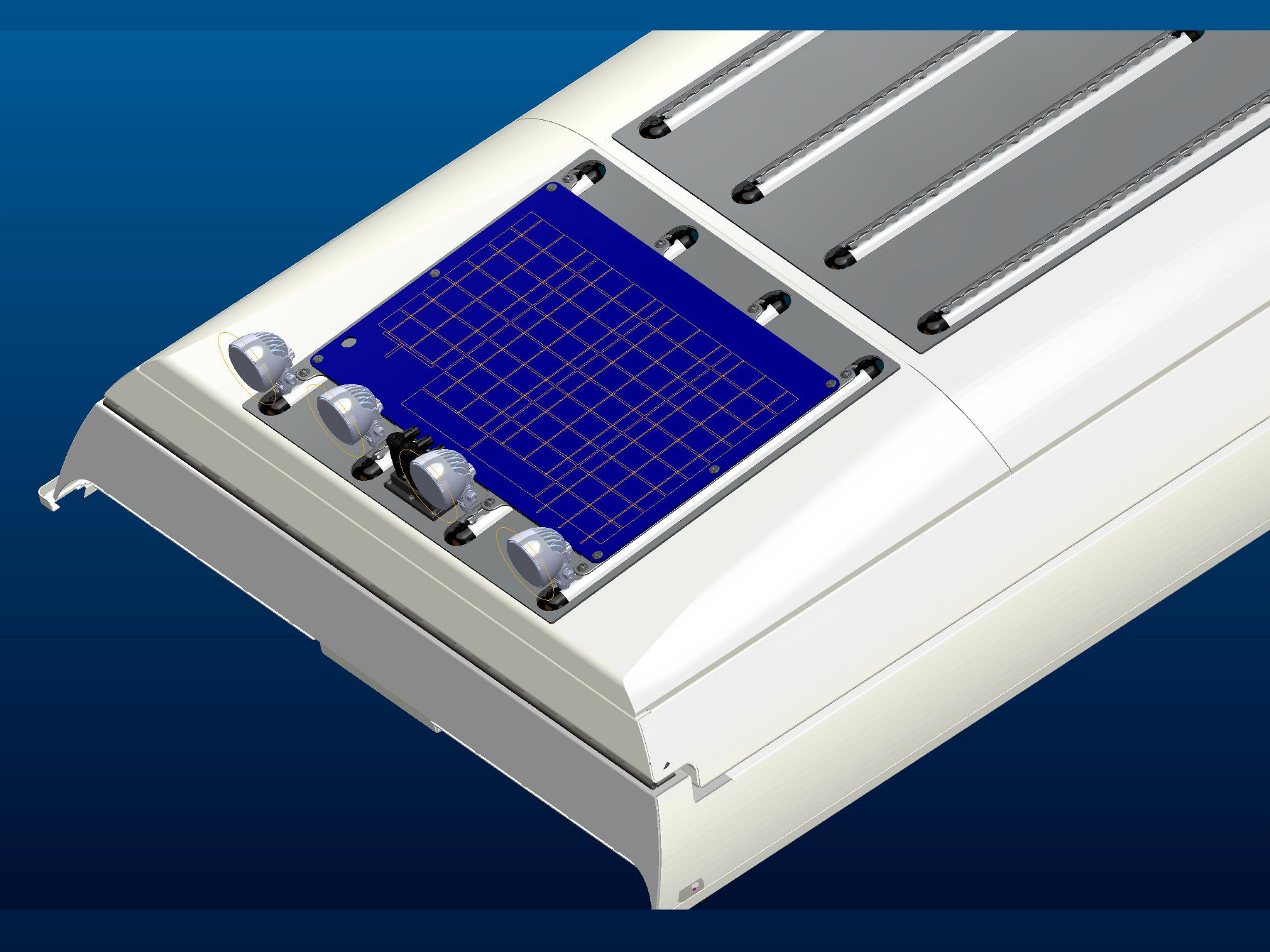 Solarmodul Land Rover Defender