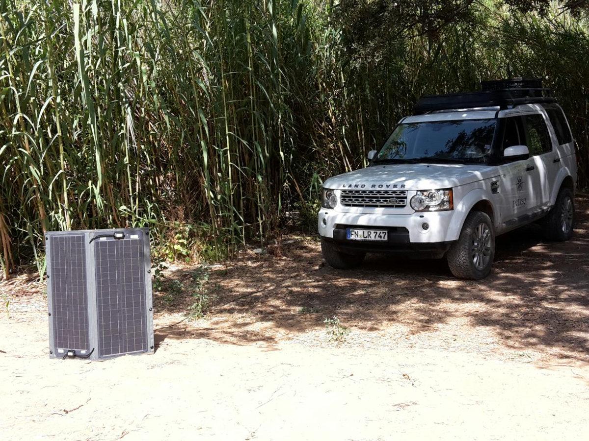faltbares Solarmodul Land Rover Defender