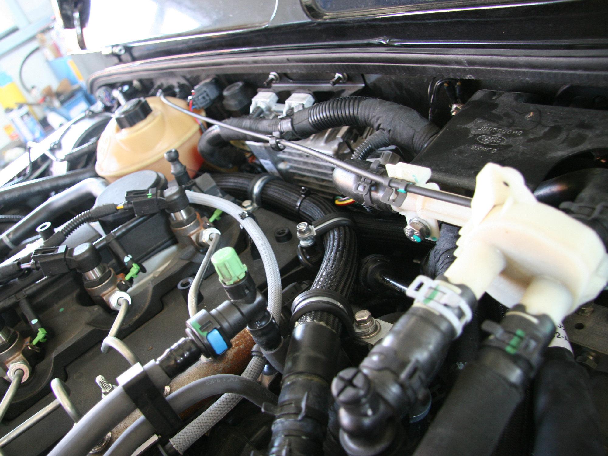 Webasto Evo Wasserstandheizung im Land Rover Defender