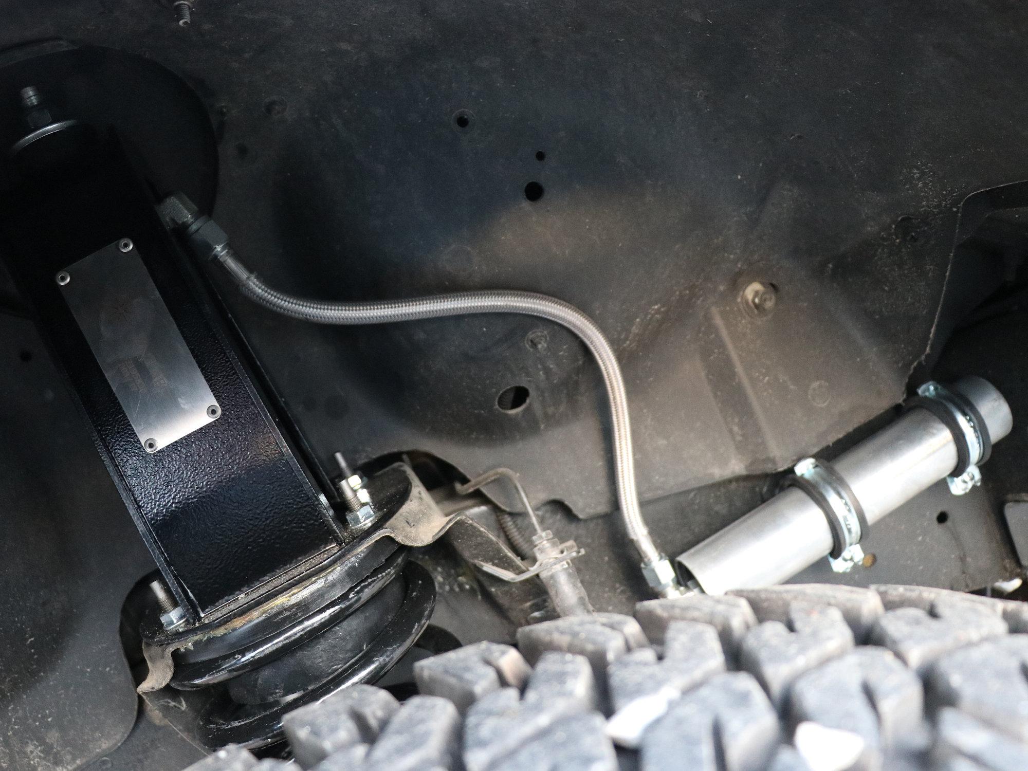 Radflo / Land Rover Fahrwerk im Land Rover Defender