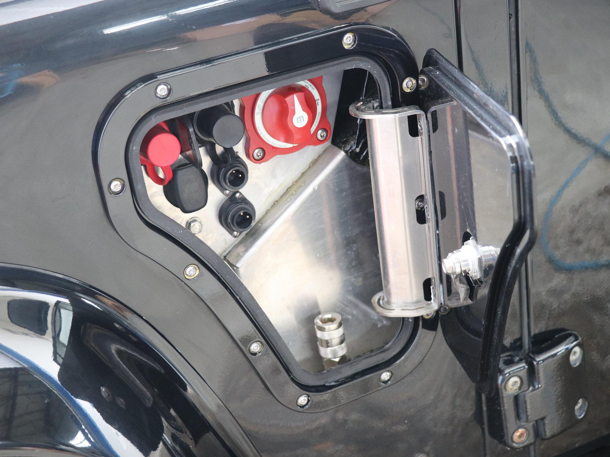 PSP im Land Rover Defender