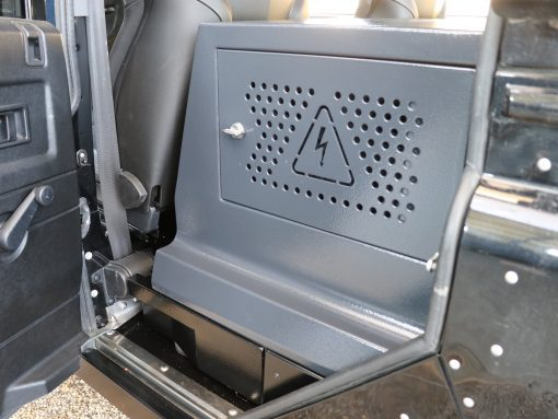 EBOX in geschlossenem Zustand mit Fußraum-Trinkwassertank