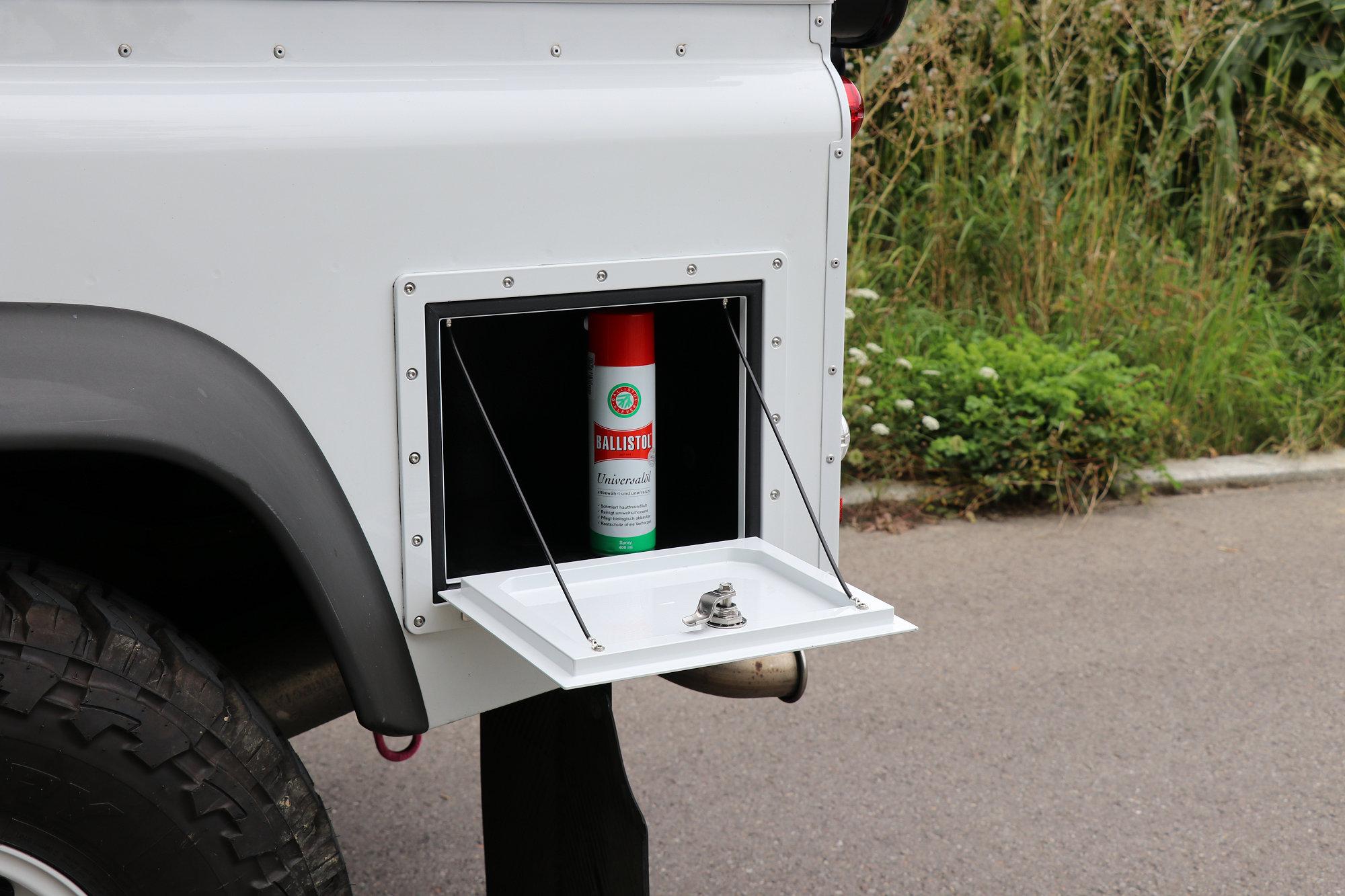 Staubox Seitenwand Radkastenstaubox Land Rover Defender.002