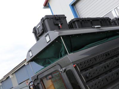 Aufstellhilfe Hubdach Klappdach Land Rover Defender